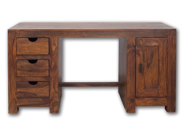 Biurko drewniane kolonialne (1+3) Oiled Matt Styl klasyczny Drewno Biurko tradycyjne Szerokość 150 cm Styl nowoczesny