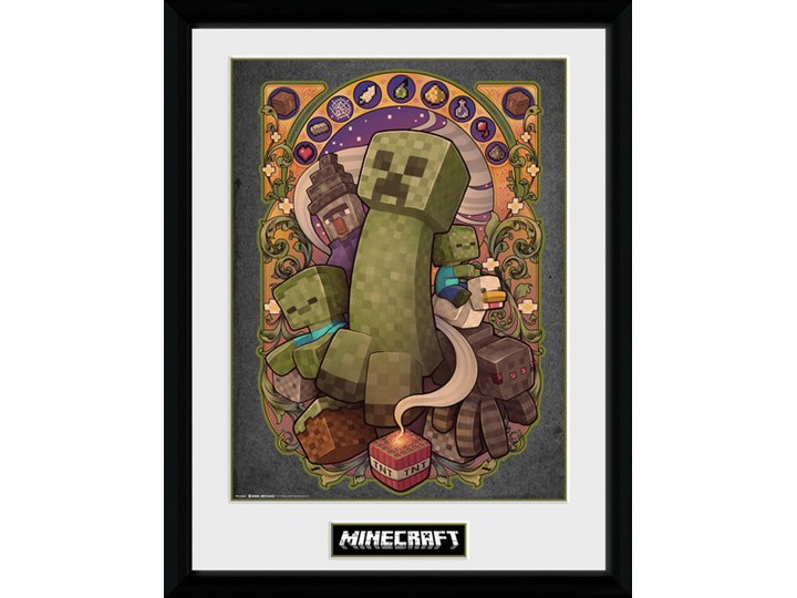 Minecraft Creeper Nouveau Oprawiony Plakat