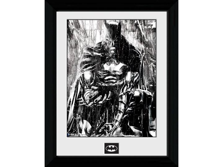 Batman Comic Rain Oprawiony Plakat