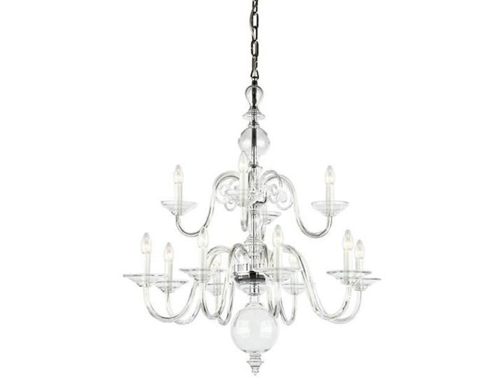 PR Egmont 12 chandelier Metal drewno Szkło tkanina Styl klasyczny