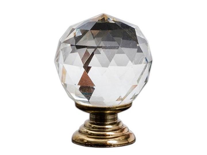 Materiał tkanina Uchwyt do mebli Crystal Clear Gold 30 mm Gałki i uchwyty