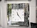 ZEGAR 15JS0016 50x50cm Kwadratowy Zegar ścienny Styl Glamour