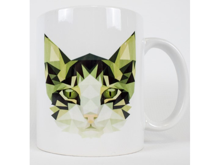 Kubek Geometryczny Kot Na Dawandapl Kubki Zdjęcia Pomysły