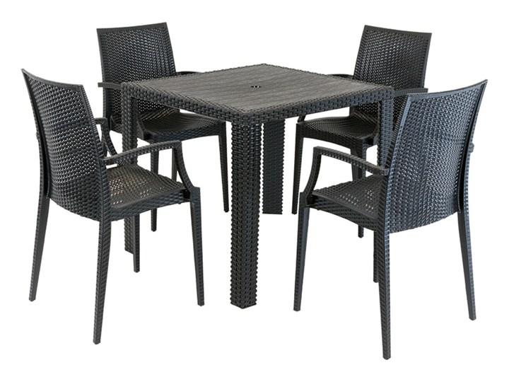 Allegro Zestaw Stół 80 X 80 Cztery Krzesła Imitacja Ratan Stoły Z