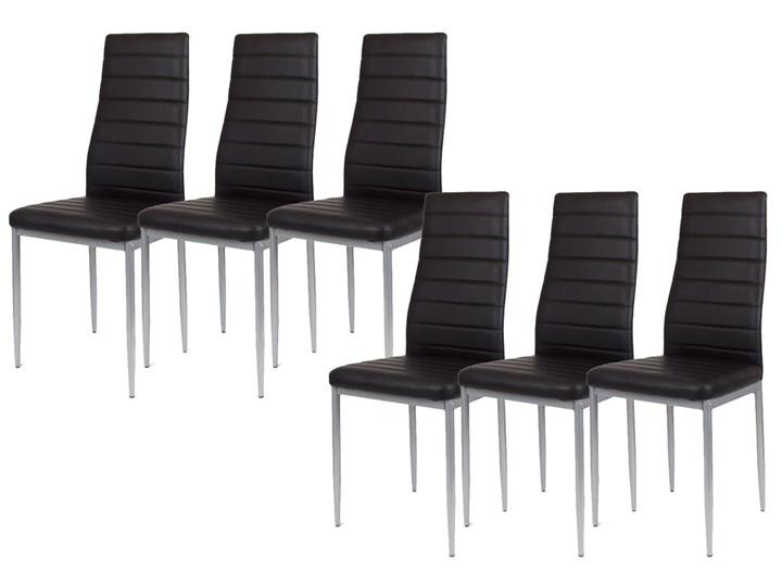 Allegro Zestaw 6 X Czarne Krzesło Ks001 Cz Mal Wzmacniane Stoły Z