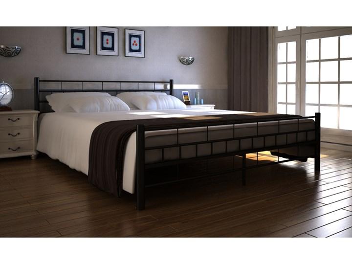 243288 Vidaxl Rama łóżka Podwójnego 160x200 Cm Czarna Metalowa