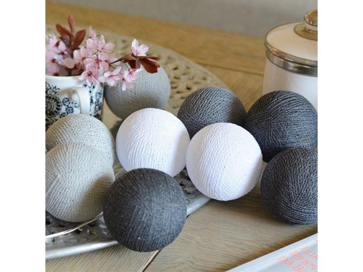 Dekoracyjne Kule Led Cotton Baslls 20 Zasilanie Sieciowe
