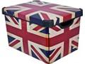 CURVER Pojemnik Deco's Stockholm L British Flag 25 l, BEZPŁATNY ODBIÓR: WARSZAWA, WROCŁAW, KATOWICE, KRAKÓW! Tworzywo sztuczne