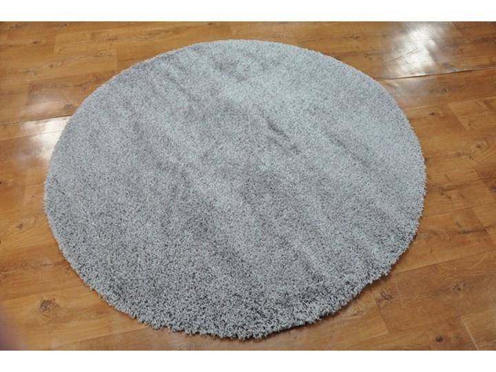 Dywan Jednobarwny szarość okrąg Dywany Okrągłe Rozmiar 4 60x200 cm