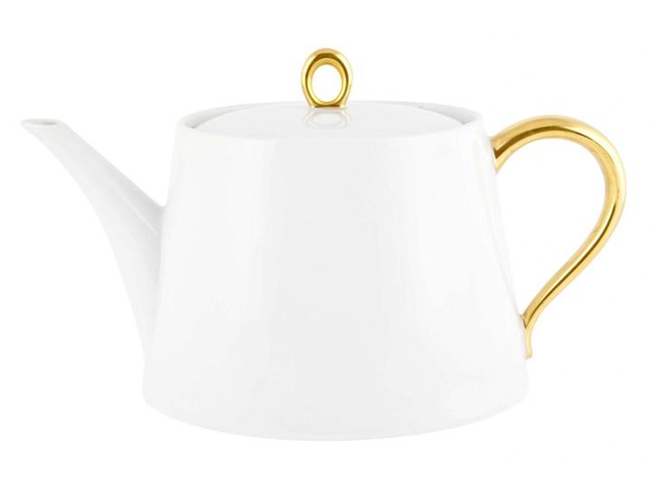 Dzbanek do herbaty - GLAMOUR GOLD  - Produkt dostępny na  WWW.DECOSALON.PL Dzbanek do kawy i herbaty Ceramika Dzbanek na zimne napoje Styl klasyczny