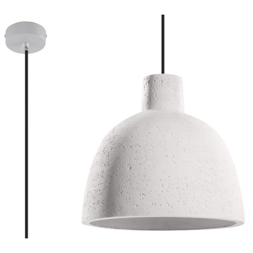 SOLLUX Nowoczesna Loftowa Betonowa Lampa Wisząca DAMASO zwis LED