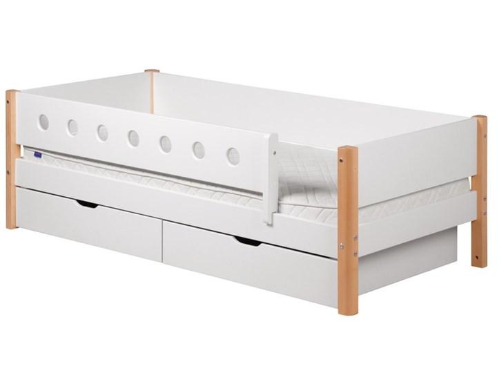 łóżko Mdf Z Poręczami Zabezpieczającymi I 2 Szufladami