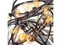 Girlanda żarówkowa ogrodowa 30m 30 oprawek czarna Girlandy