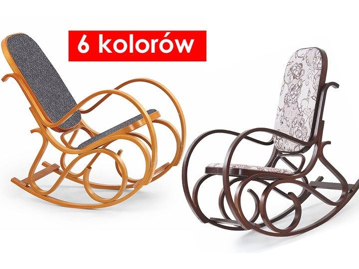 Drewniany fotel bujany w kolorze Wenge - Dixel Kolor Szary Głębokość 90 cm Wysokość 95 cm Drewno Kategoria Fotele do salonu
