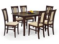 Rozkładany stół Lister XL - ciemny orzech Drewno Długość 90 cm  Wysokość 74 cm Płyta MDF Długość 160 cm  Rozkładanie Rozkładane