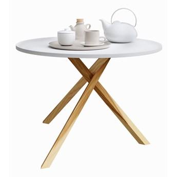 Skandynawski stolik kawowy Inelo L6 - biały blat