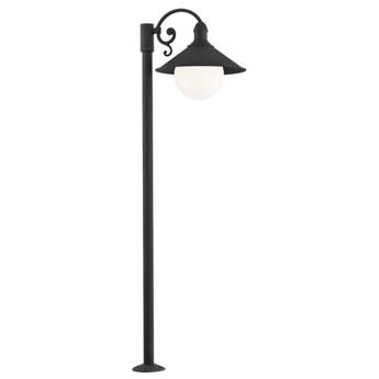 ERBA BIS lampa stojąca 1 x 60W E27 ogrodowa zewnętrzna czarna metal słupek ARGON 3284
