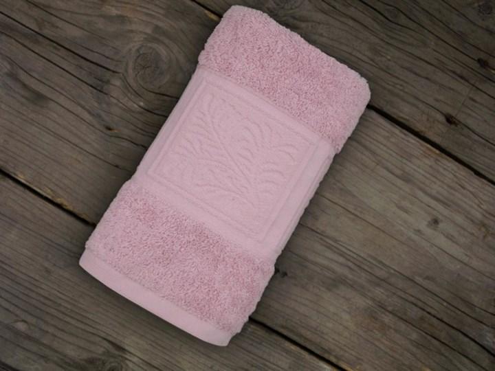 Ręcznik bawełniany Greno Ecco Bamboo Różowy 70x140 cm tkanina Ręcznik do rąk 50x90 cm Bawełna Bambus Wzór nadruk