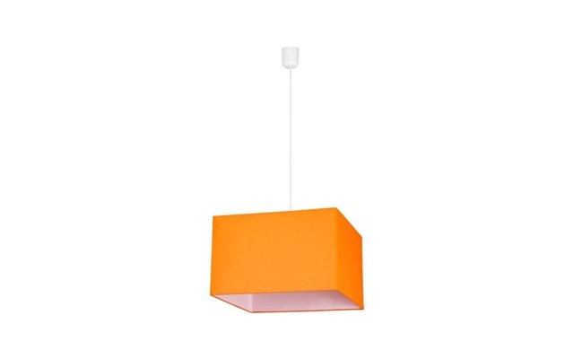 lampy wiszące szklane w kwadracie pomarańczowe do kuchni