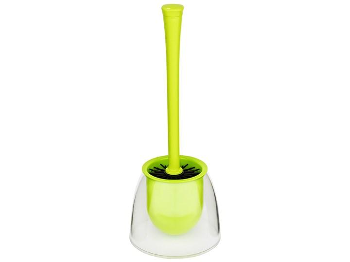 Pojemnik na szczotkę FIESTA, zielony + szczotka WC, WENKO Tworzywo sztuczne Wolnostojące Styl nowoczesny