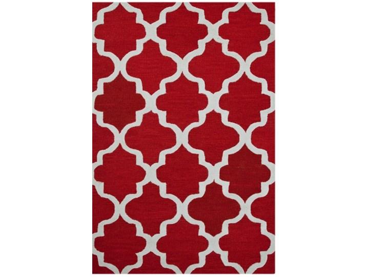 Dywan wełniany 'Maroc' czerwony 152 x 243 cm