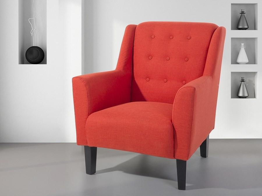 fotel czerwony do salonu wypoczynkowy klubowy