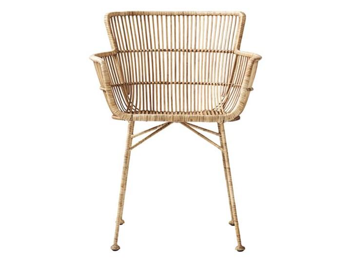 KRZESŁO DINING CUUN NATURE HOUSE DOCTOR Kolor Beżowy Rattan Głębokość 60 cm Szerokość 62 cm Wysokość 80 cm Metal Krzesło inspirowane Żelazo Kategoria Krzesła kuchenne