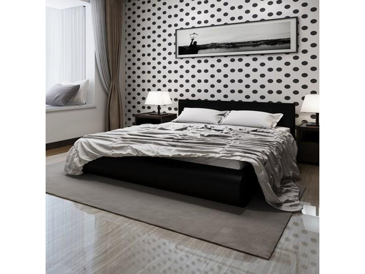 240850 Rama łóżka 180x200 Cm Czarna