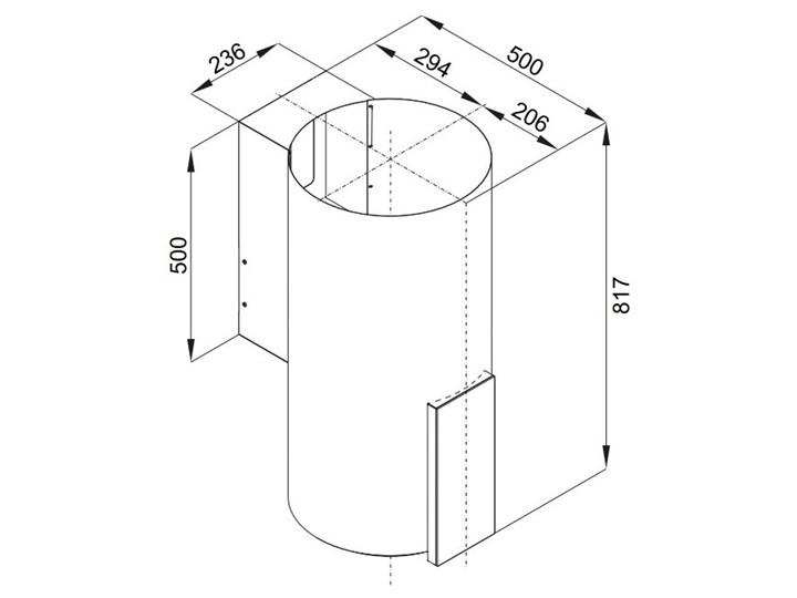 Okap VDB Tube P Glass Inox Poziom hałasu 63 dB Okap kominowy Szerokość 39 cm Sterowanie Elektroniczne