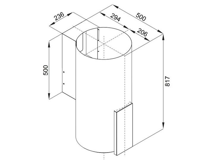 Okap VDB Tube P Glass Black Okap kominowy Szerokość 39 cm Poziom hałasu 63 dB Kolor Czarny