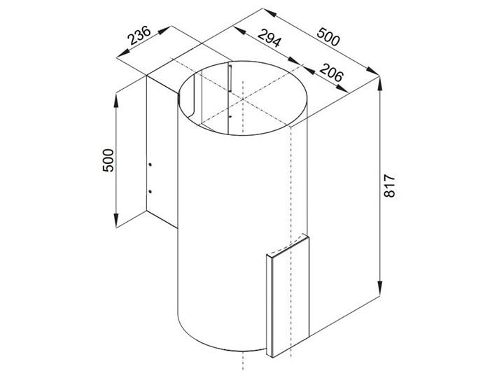 Okap VDB Tube P Glass White Okap kominowy Sterowanie Elektroniczne Szerokość 39 cm Poziom hałasu 63 dB
