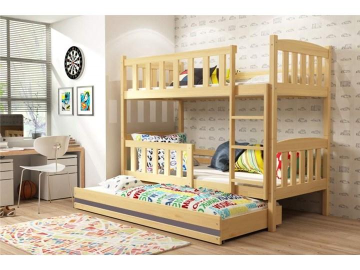łóżko Piętrowe Kubuś 3 Osobowe Sosna