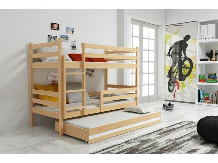 łóżko Piętrowe Eryk 3 Osobowe Sosna łóżka Piętrowe Zdjęcia