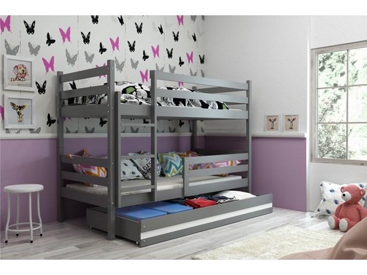 łóżko Piętrowe Eryk 2 Osobowe Z Szufladą Grafit