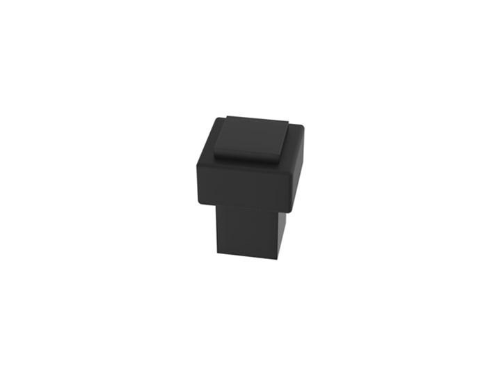 Odbojnik, stoper, ogranicznik do drzwi, kwadratowy, przykręcany do podłogi, nowoczesny kształt - czarny