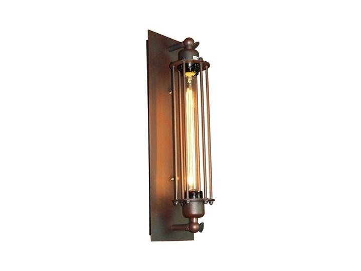 MCODO ::  Industrialny kinkiet BROOKLYN  w kolorze rusty Kinkiet dekoracyjny Metal Styl vintage