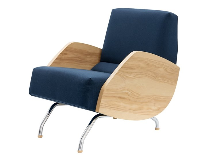 Fotel R 360 Proj J Różański Granatowy
