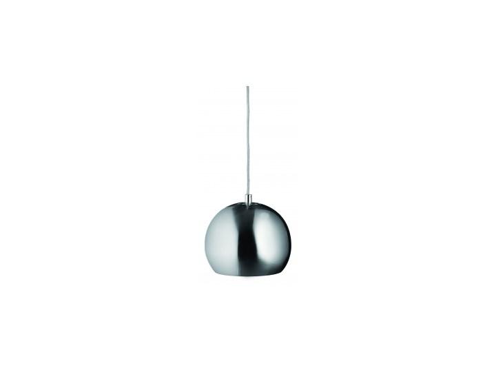 Lampa wisząca – BALL, chrom, czarny przewód