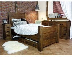 Łóżka drewniane w stylu rustykalnym