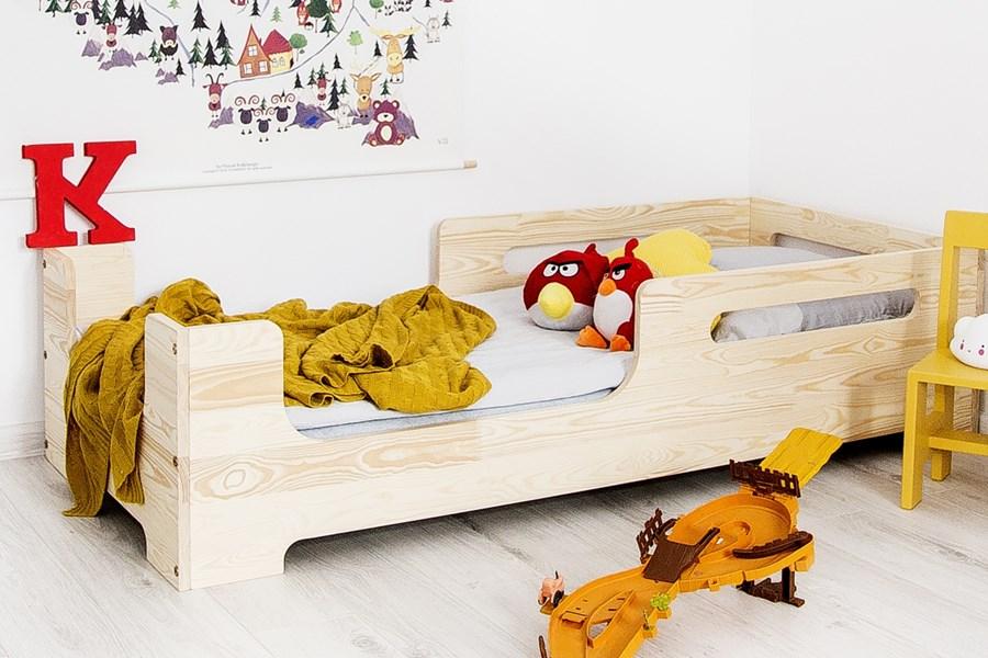 Drewniane łóżko Dziecięce Cube 1 60x120cm łóżka Dla Dzieci