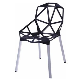SELSEY Krzesło Keid czarne