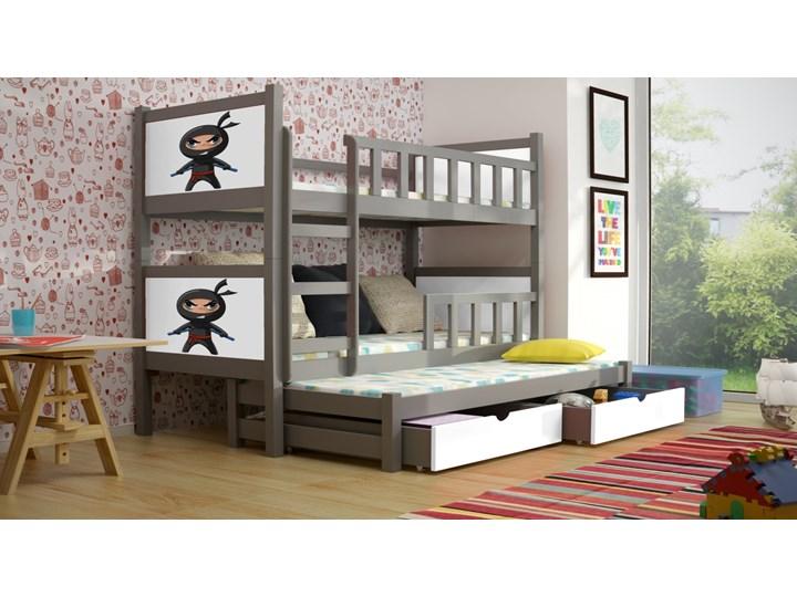 Piotruś 3 Sosnowe Potrójne łóżko Piętrowe Dla Dzieci Z Wysuwanymi Szufladami