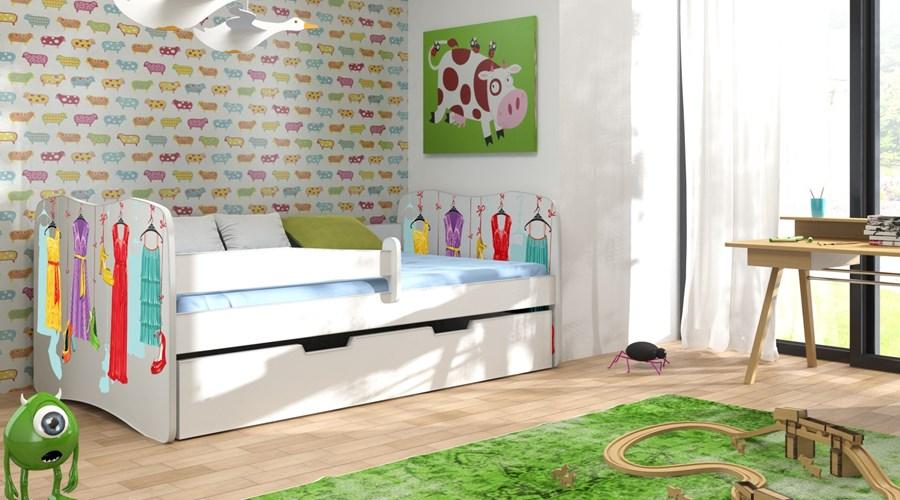 Zosia Pojedyncze Drewniane łóżko Dla Dziecka Z Profilowanymi Bokami
