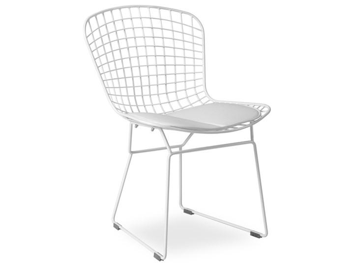 Metalowe Krzesło Patrick Białe Insp Wire Chair