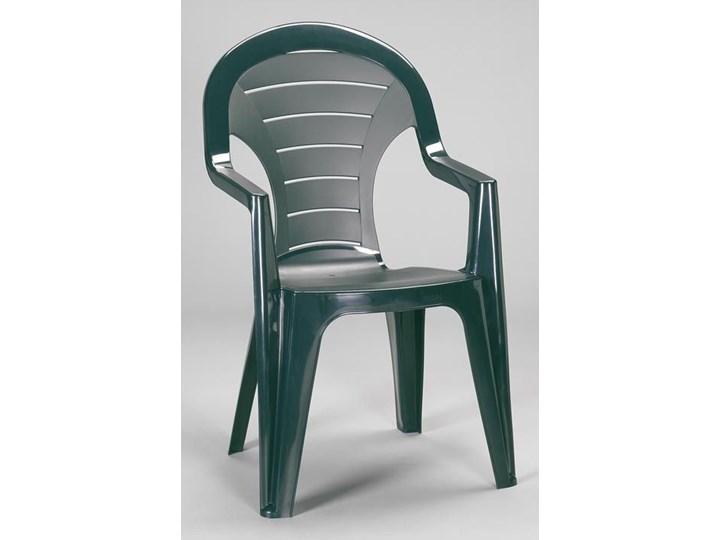 Plastikowe Krzesło Ogrodowe Bonaire Zielone
