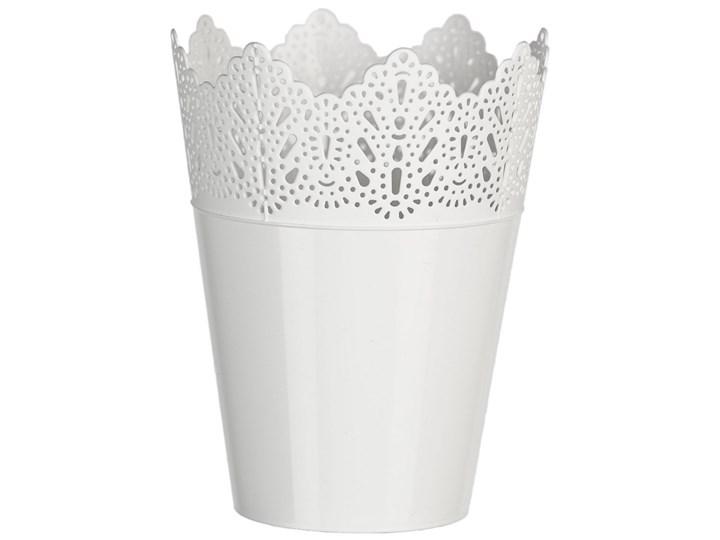 Osłona Plastikowa Na Doniczkę Koronka 15 Cm Biały