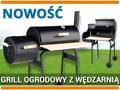 GRILL OGRODOWY Z WĘDZARNIĄ, RUSZT 60 CM (SZER.) / 99513 / TOYA Węglowe drewno tworzywo sztuczne