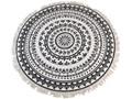 Dywan okrągły FLOW - śr. 150 cm Styl klasyczny tkanina Bawełna Okrągłe Syntetyk Akryl Dywany Wzór Orientalny