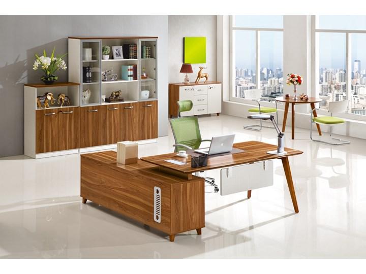 Nowoczesne biurko z pomocnikiem EVOLUTIO A609 Biurko tradycyjne Styl nowoczesny Drewno Szerokość 180 cm Szerokość 170 cm Płyta MDF Głębokość 85 cm Styl klasyczny