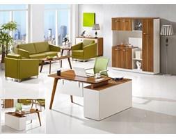 Nowoczesne biurko lewostronne z pomocnikiem EVOLUTIO A909B